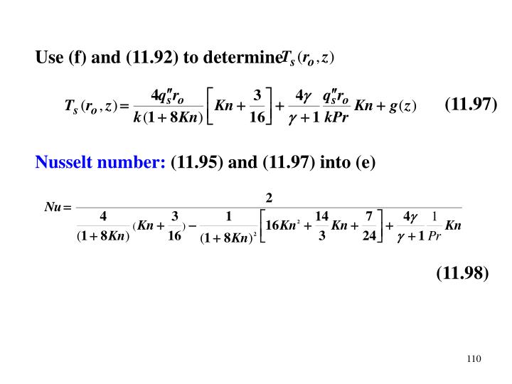 Use (f) and (11.92) to determine