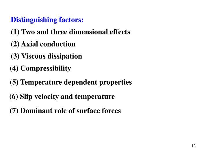 Distinguishing factors: