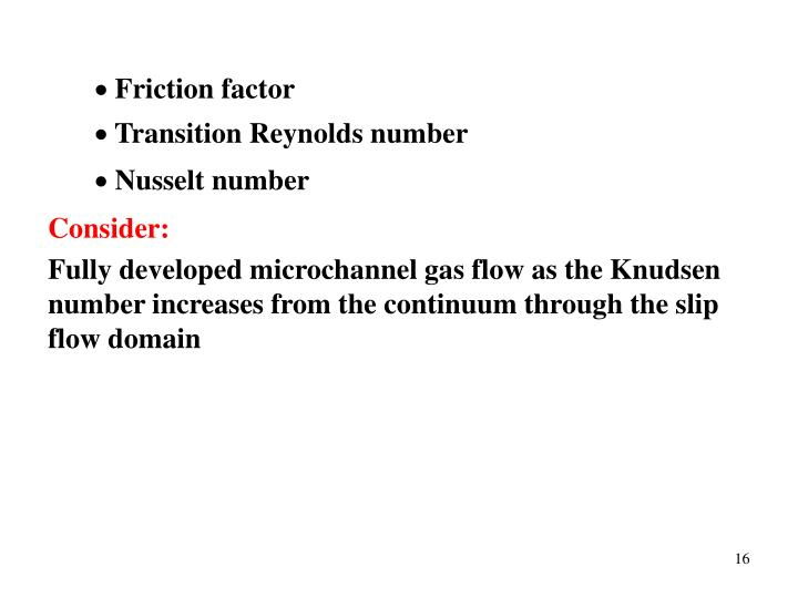 Friction factor