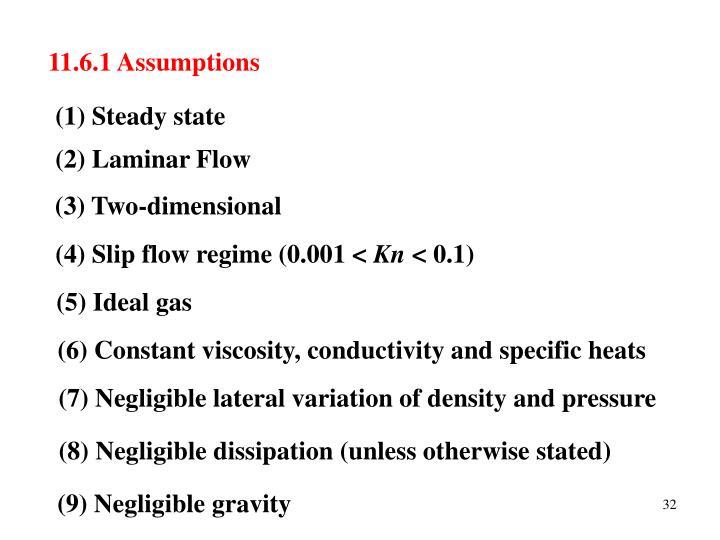 11.6.1 Assumptions