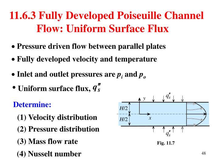Uniform surface flux,