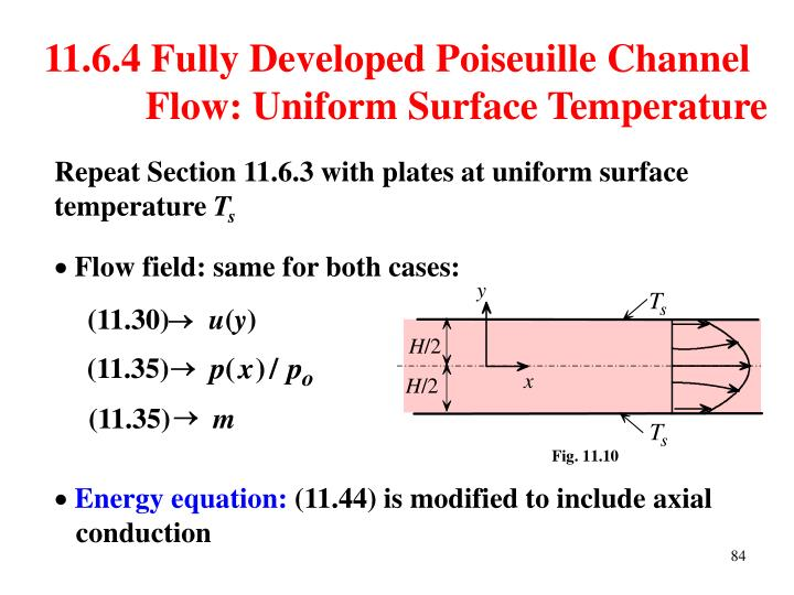 11.6.4 Fully Developed Poiseuille Channel