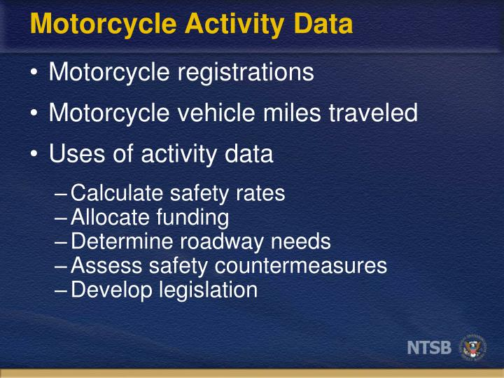 Motorcycle activity data1