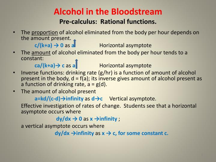 Alcohol in the Bloodstream