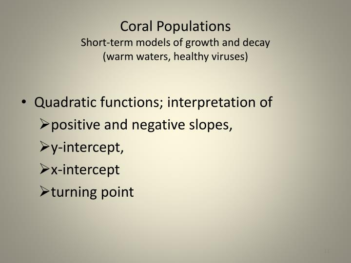 Coral Populations