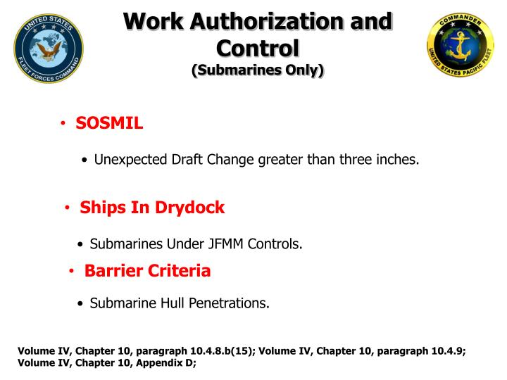 Work Authorization and Control