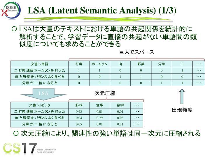 LSA (Latent Semantic Analysis) (1/3)