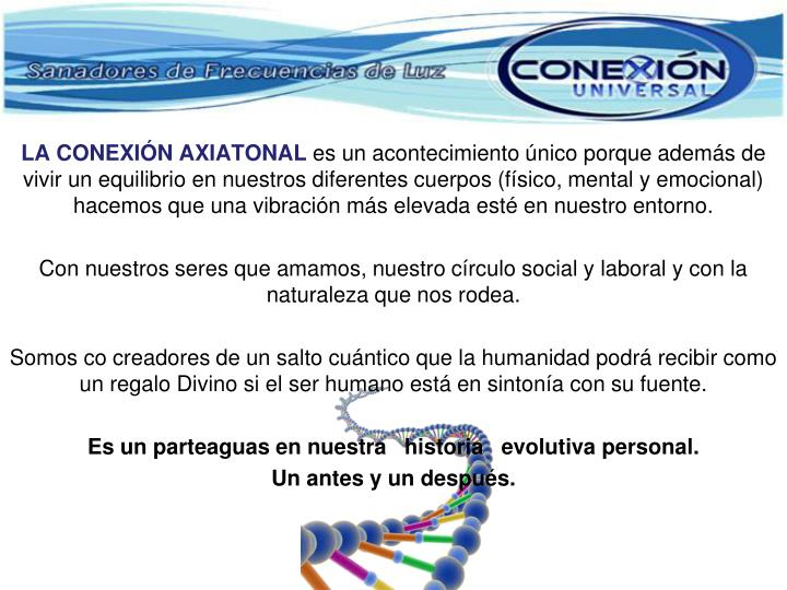 LA CONEXIÓN AXIATONAL