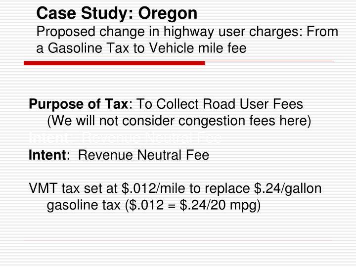 Case Study: Oregon