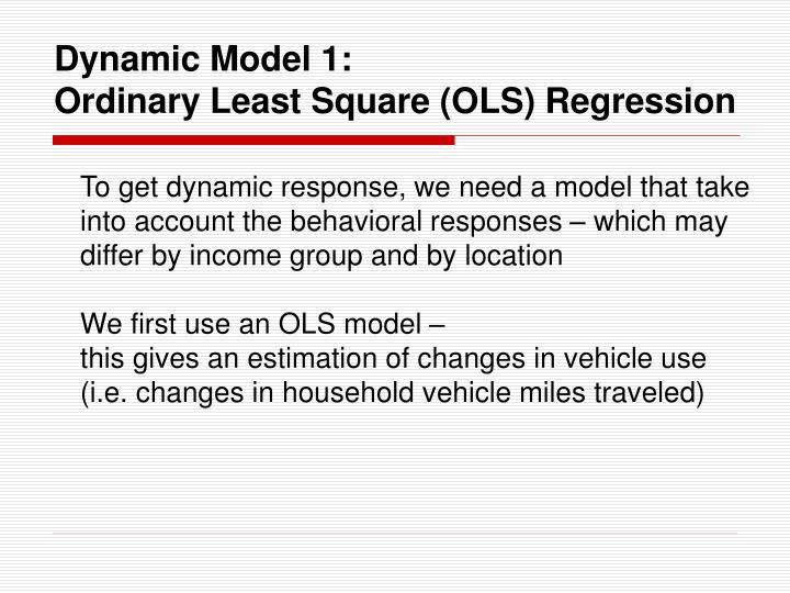 Dynamic Model 1: