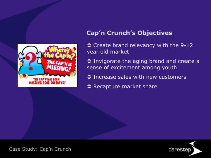 Cap'n Crunch's Objectives