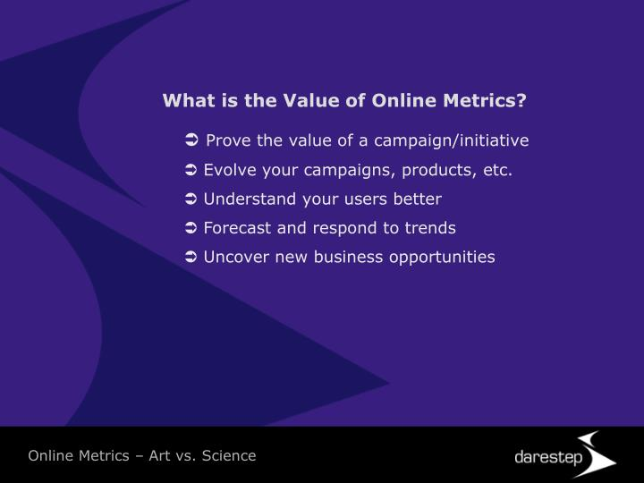What is the Value of Online Metrics?