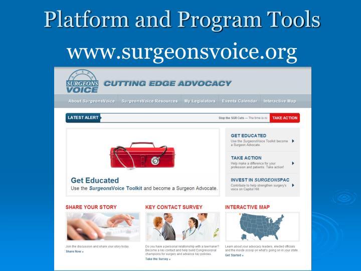 Platform and Program Tools