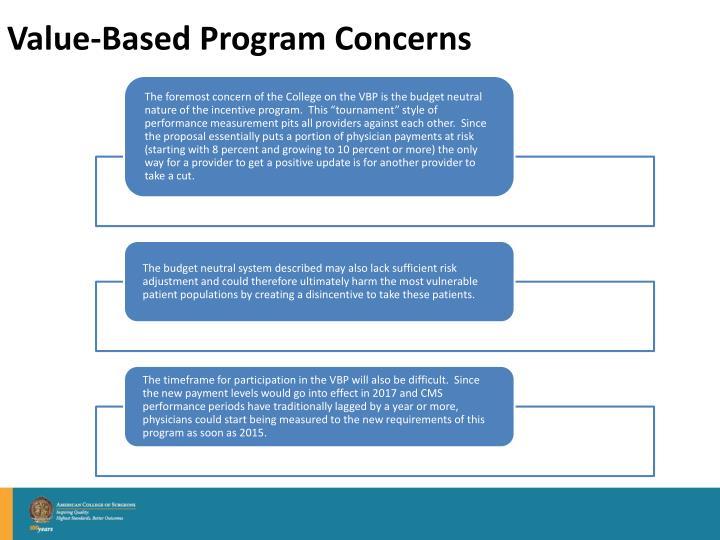 Value-Based Program Concerns