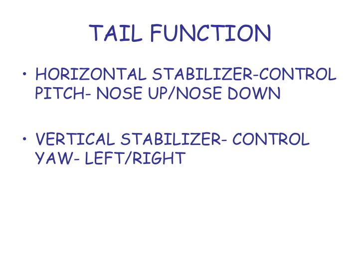 TAIL FUNCTION