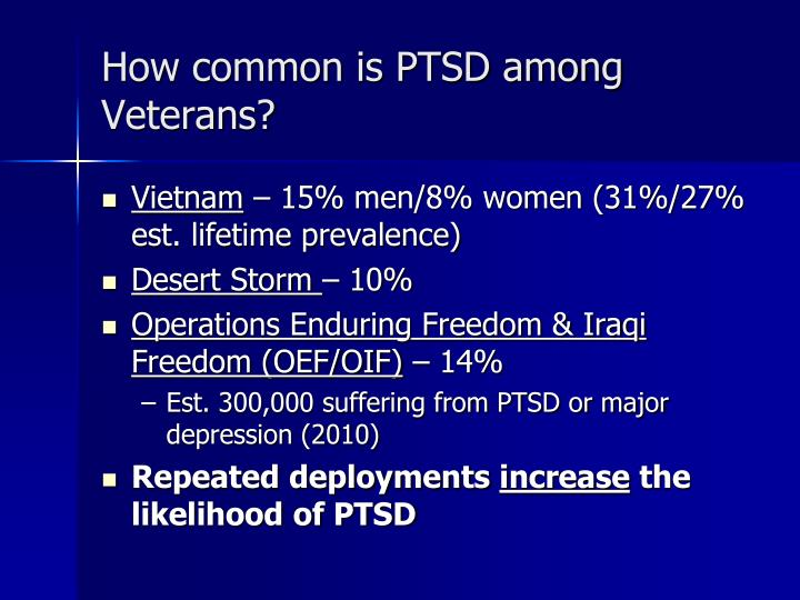 How common is PTSD among Veterans?