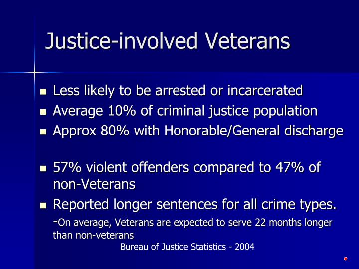 Justice-involved Veterans