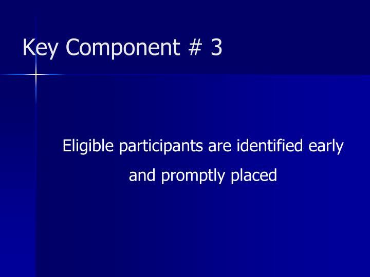 Key Component # 3