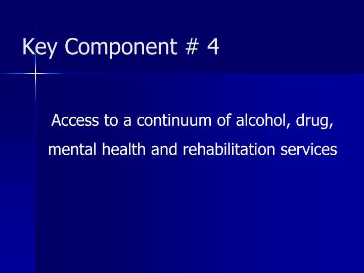 Key Component # 4