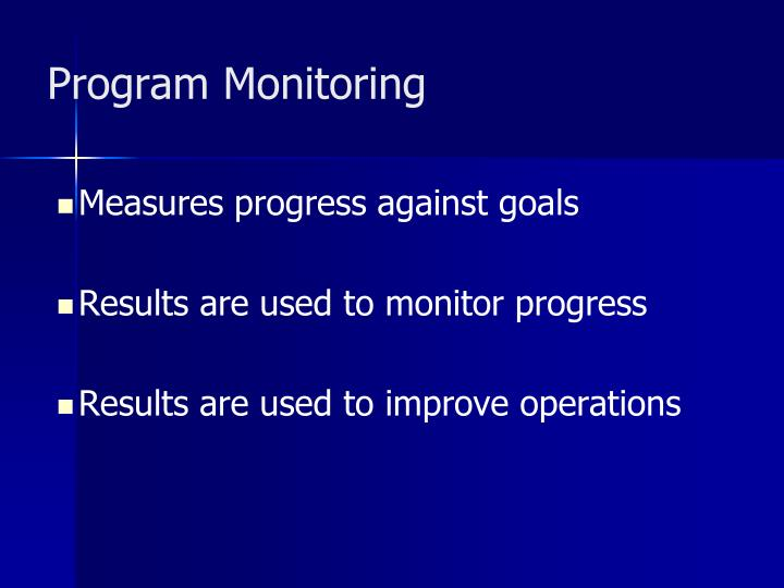 Program Monitoring
