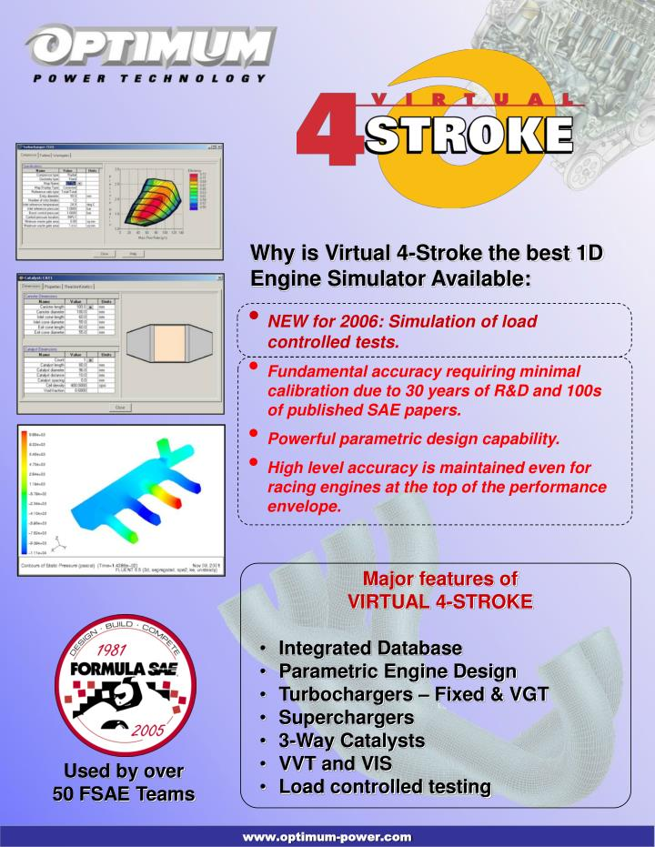 Why is Virtual 4-Stroke the best 1D Engine Simulator Available: