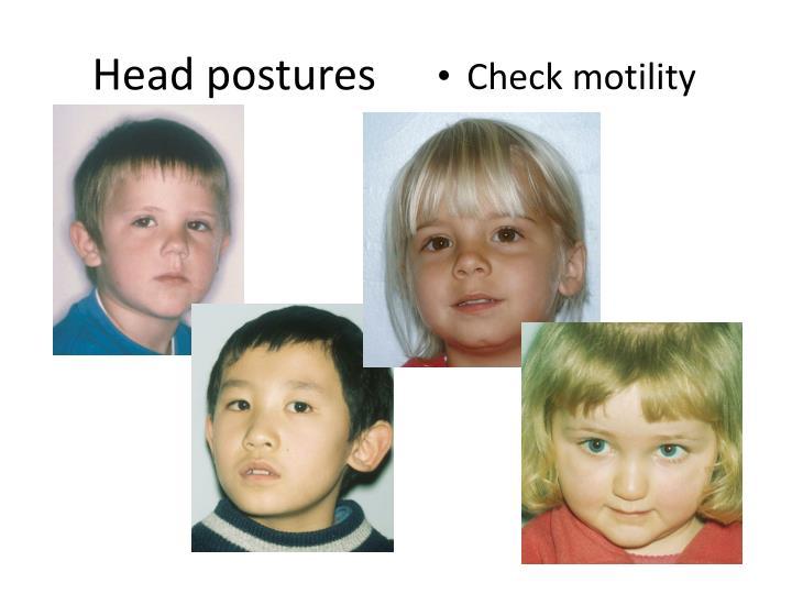 Head postures