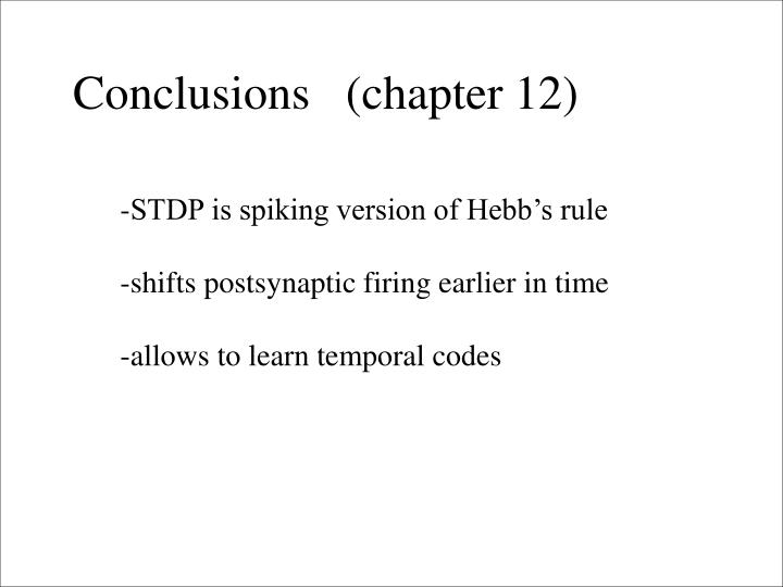 Conclusions   (chapter 12)