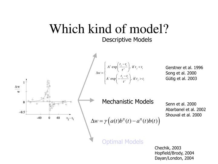 Which kind of model?