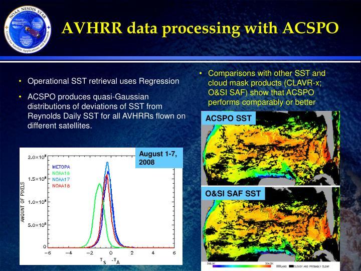AVHRR data processing with ACSPO