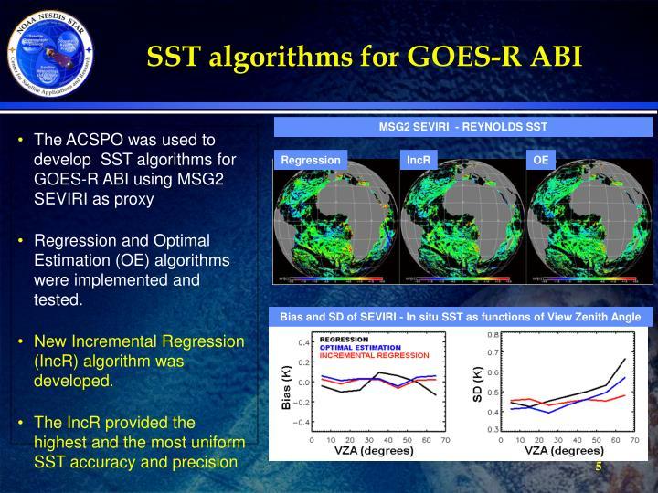 SST algorithms for GOES-R ABI
