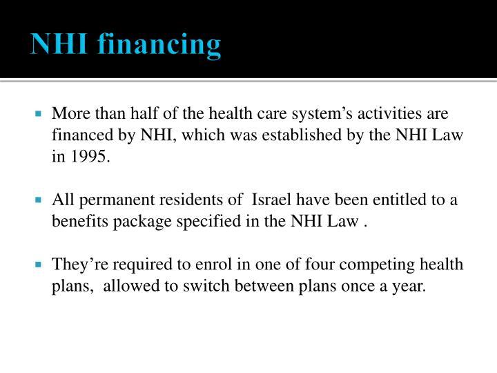 NHI financing