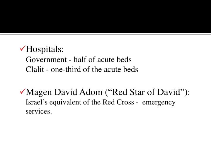Hospitals: