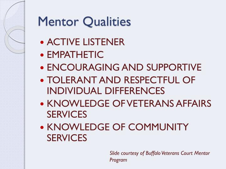 Mentor Qualities