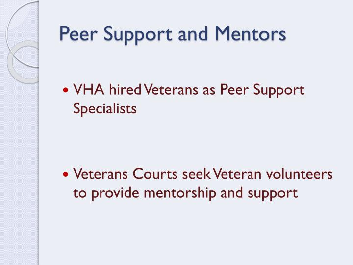 Peer Support and Mentors