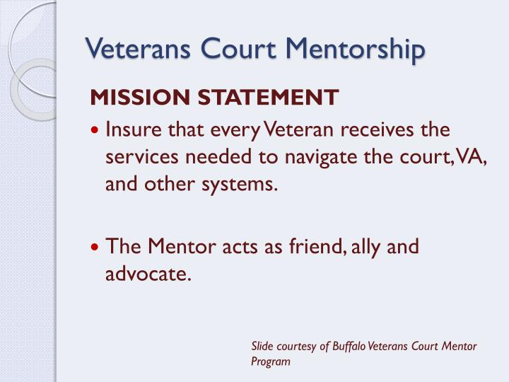 Veterans Court Mentorship