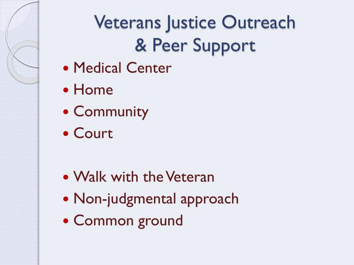 Veterans Justice Outreach
