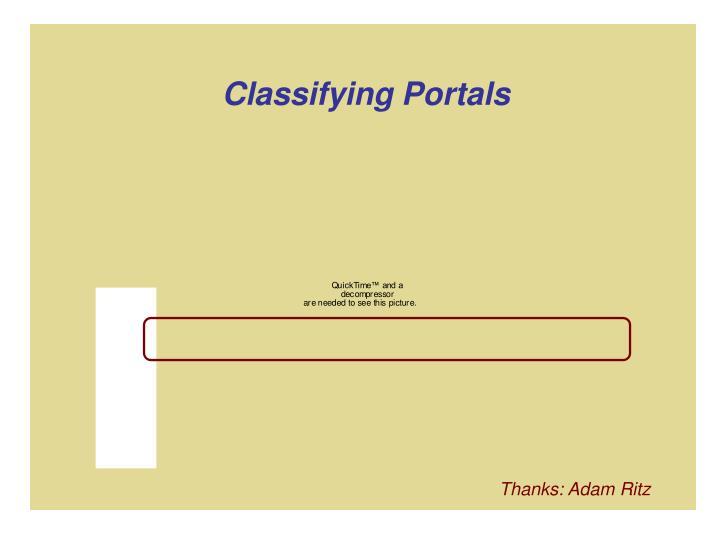 Classifying Portals