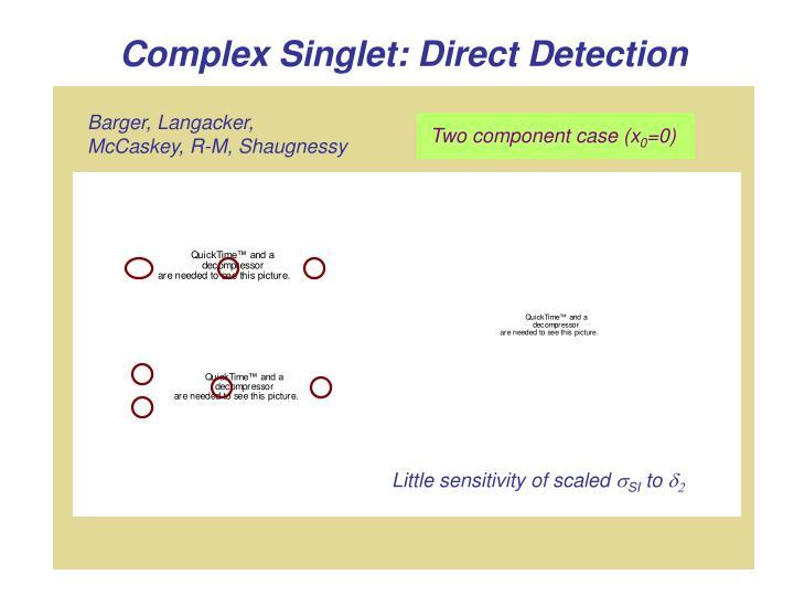 Complex Singlet: Direct Detection