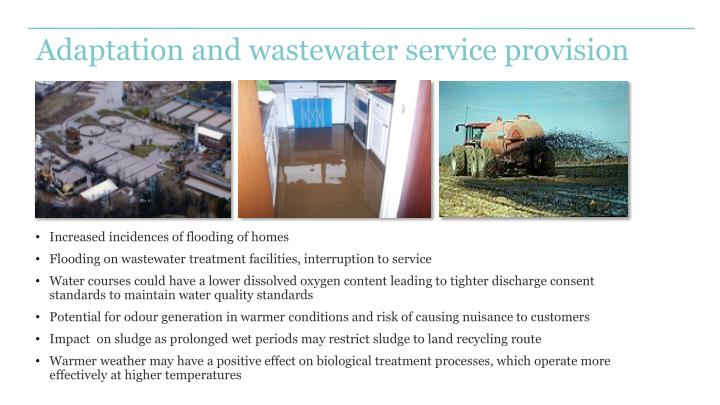 Adaptation and wastewater service provision