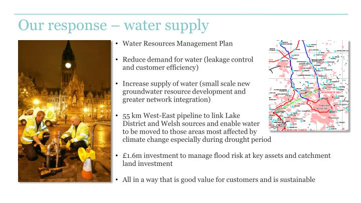 Our response – water supply