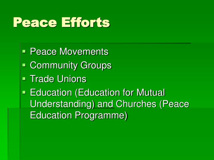 Peace Efforts