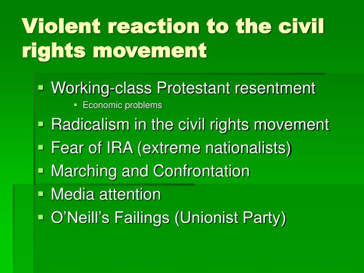 Violent reaction to the civil rights movement