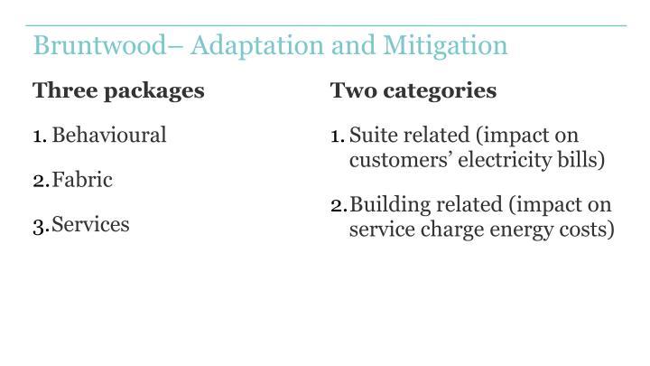 Bruntwood– Adaptation and Mitigation