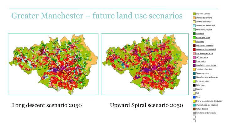 Greater Manchester – future land use scenarios
