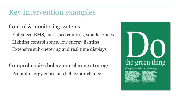 Key Intervention examples