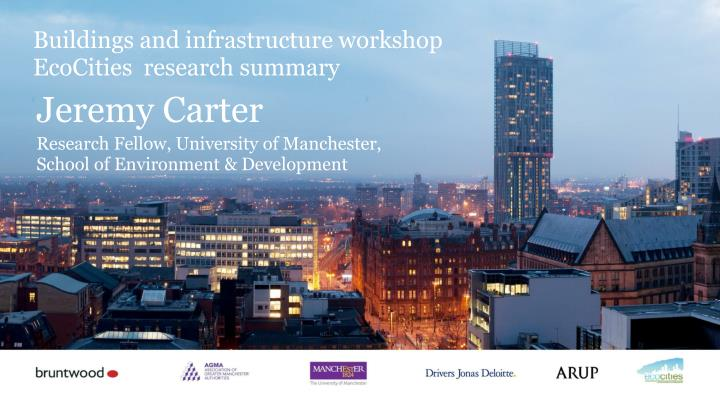 Buildings and infrastructure workshop