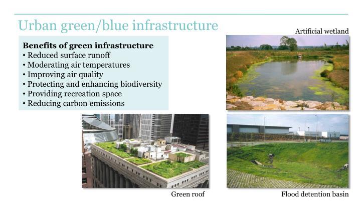 Urban green/blue infrastructure