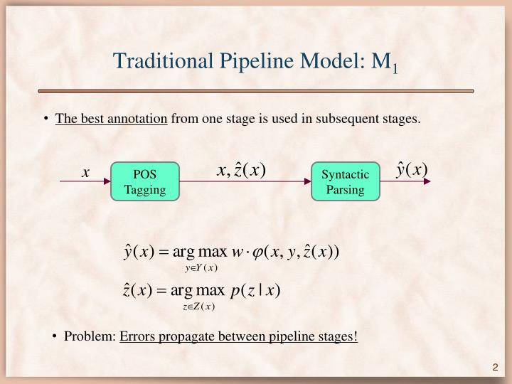 Traditional pipeline model m 1