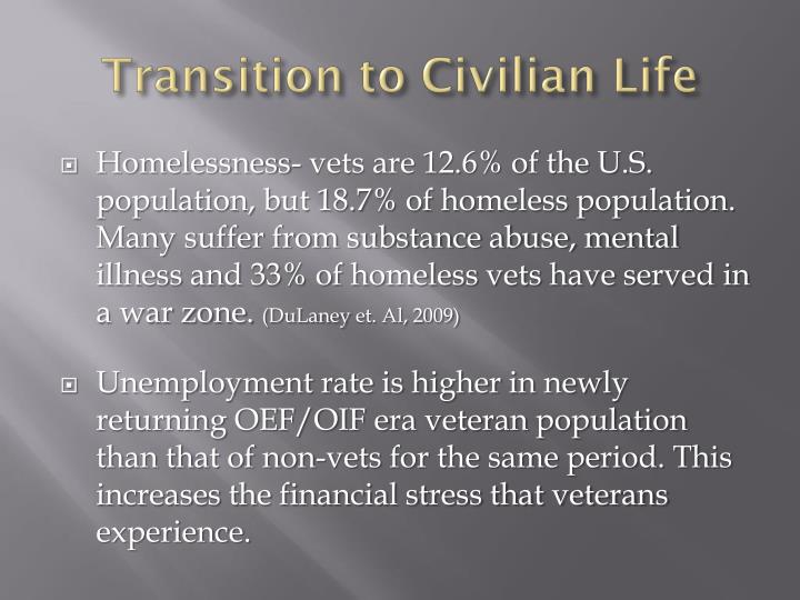 Transition to Civilian Life