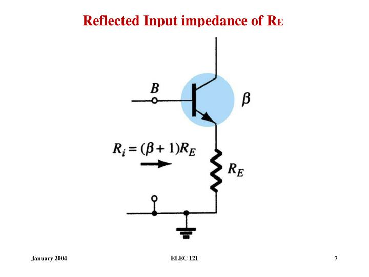 Reflected Input impedance of R